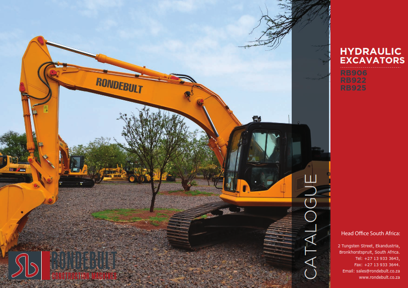 Hydraulic Excavators - RB906 | RB922 | RB925